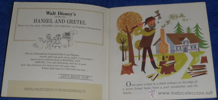 Discos de vinilo: Hansel y Gretel - See Hear Read - Walt Disney - Disneyland Records (1967) - Foto 2 - 48326312
