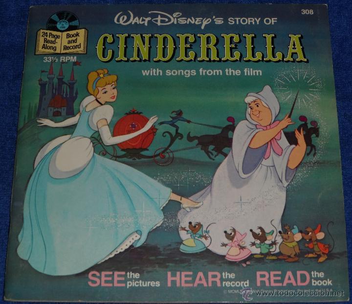 LA CENICIENTA - SEE HEAR READ - WALT DISNEY - DISNEYLAND RECORDS (1977) (Música - Discos - Singles Vinilo - Música Infantil)