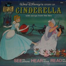 Discos de vinilo: LA CENICIENTA - SEE HEAR READ - WALT DISNEY - DISNEYLAND RECORDS (1977). Lote 48326349