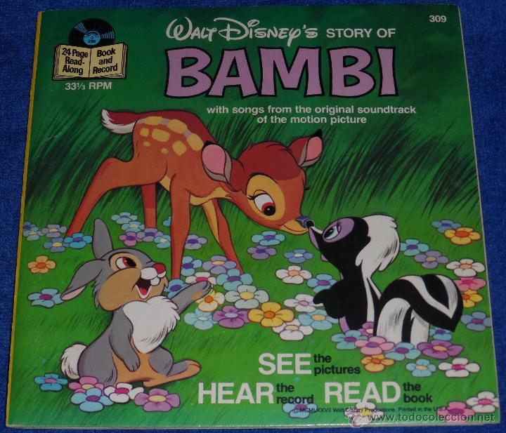 Discos de vinilo: Bambi - See Hear Read - Walt Disney - Disneyland Records (1977) - Foto 1 - 48326360