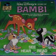 Discos de vinilo: BAMBI - SEE HEAR READ - WALT DISNEY - DISNEYLAND RECORDS (1977). Lote 48326360