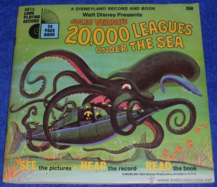 20000 LEGUAS DE VIAJE SUBMARINO - SEE HEAR READ - WALT DISNEY - DISNEYLAND RECORDS (1971) (Música - Discos - Singles Vinilo - Música Infantil)