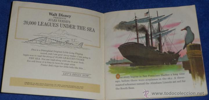 Discos de vinilo: 20000 leguas de viaje submarino - See Hear Read - Walt Disney - Disneyland Records (1971) - Foto 2 - 48326386