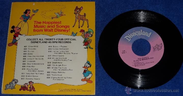 Discos de vinilo: Alicia en el pais de las maravillas - Happiest Songs - Disneyland Records (1975) - Foto 2 - 48326524
