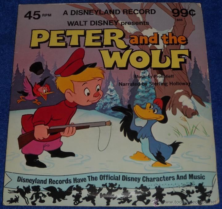 PEDRO Y EL LOBO - HAPPIEST SONGS - DISNEYLAND RECORDS (1975) (Música - Discos - Singles Vinilo - Música Infantil)