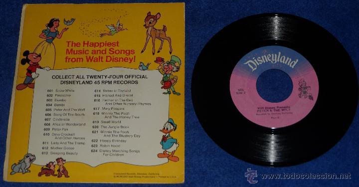 Discos de vinilo: Pedro y el lobo - Happiest Songs - Disneyland Records (1975) - Foto 2 - 48326548