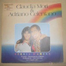 Disques de vinyle: CLAUDIA MORI & ADRIANO CELENTANO (LP) STORIA D'AMORE AÑO 1982. Lote 48332998