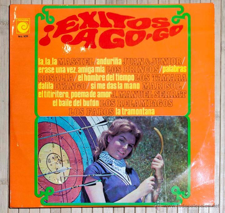 EXITOS A GO GO. NOVOLA. 1968. (Música - Discos - LP Vinilo - Solistas Españoles de los 50 y 60)