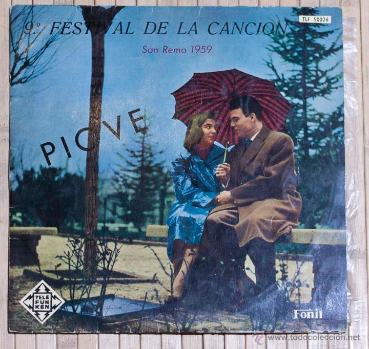 9º FESTIVAL DE LA CANCION SAN REMO 1959. TELEFUNKEN. 10 PULGADAS. (Música - Discos - LP Vinilo - Otros Festivales de la Canción)