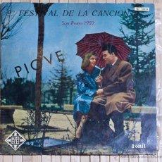 Discos de vinilo: 9º FESTIVAL DE LA CANCION SAN REMO 1959. TELEFUNKEN. 10 PULGADAS.. Lote 48340979