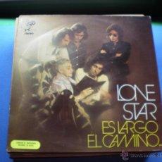 Discos de vinilo: LONE STAR ES LARGO EL CAMINO LP 1972 LABEL EKIPO ROJO.PROMOCIONAL. GATEFOLD PDELUXE. Lote 48343238
