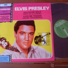 Discos de vinilo: ELVIS PRESLEY ORIGINAL SOUNDTRACK JAILHOUSE ROCK . LOVE ME TENDER. MADE IN SPAIN 1981. Lote 48343340