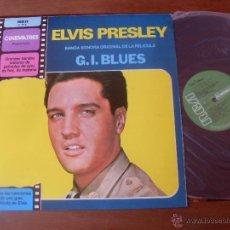 Discos de vinilo: ELVIS PRESLEY ORIGINAL SOUNDTRACK G.I. BLUES. MADE IN SPAIN 1981. Lote 48343438