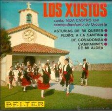 Discos de vinilo: EP ASTURIAS FOLK : LOS XUSTOS : ASTURIAS DE MI QUERER. Lote 48344057