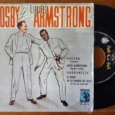 Discos de vinilo: BING CROSBY Y LOUIS ARMSTRONG, PASTOR +3 (HISPAVOX 1960) SINGLE EP ESPAÑA - BILLY MAY PASTOR MUSKRAT. Lote 48347784