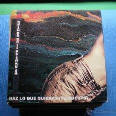 Discos de vinilo: BARRICADA HAZ LO QUE QUIERAS SINGLE 1992 PROMO MERCURY PDELUXE. Lote 48355334