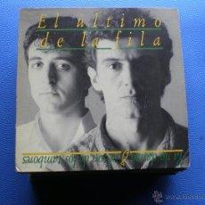 Discos de vinilo: EL ULTIMO DE LA FILA YA NO DANZO AL SON DE LOS TAMBORES SINGLE 1988 3 TEMAS* PDELUXE. Lote 48362784