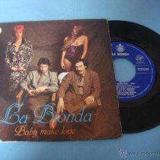 Discos de vinilo: VINILO. EP. LA BIONDA. BABY MAKE LOVE. WELCOME HOME. SINGLE. DEL ALBUM BANDIDO. 1979. Lote 48363615