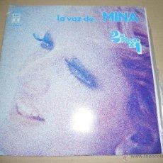 Discos de vinilo: MINA (LP) LA VOZ DE MINA AÑO 1976 - DOBLE DISCO CON PORTADA ABIERTA. Lote 48363795