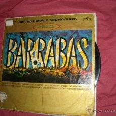 Discos de vinilo: BARRABAS BANDA SONORA ORIGINAL LP MARIO NASCIMBENE 1962 SPA DISCOPHON. Lote 48209900
