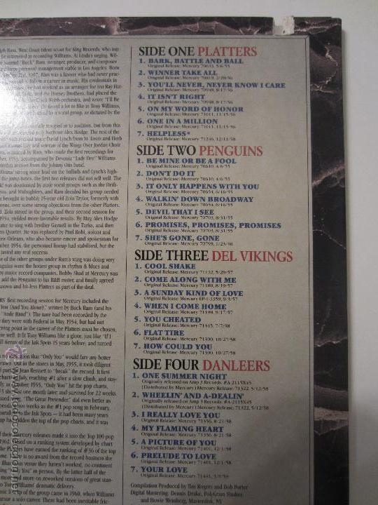 Discos de vinilo: THE VOCAL GROUP COLLECTION PLATTERS PENGUINS DEL VIKINGS DANLEERS DOO WOP DOBLE LP MERCURY RECORDS - Foto 3 - 48372432