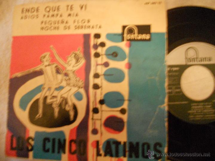 LOS 5 LATINOS-EP ENDE QUE TE VI +3-1959 (Música - Discos de Vinilo - EPs - Grupos y Solistas de latinoamérica)