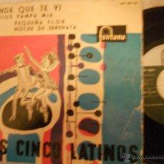 Discos de vinilo: LOS 5 LATINOS-EP ENDE QUE TE VI +3-1959. Lote 48382197