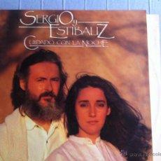 Discos de vinilo: LP SERGIO Y ESTIBALIZ-CUIDADO CON LA NOCHE-PROMO. Lote 48384427