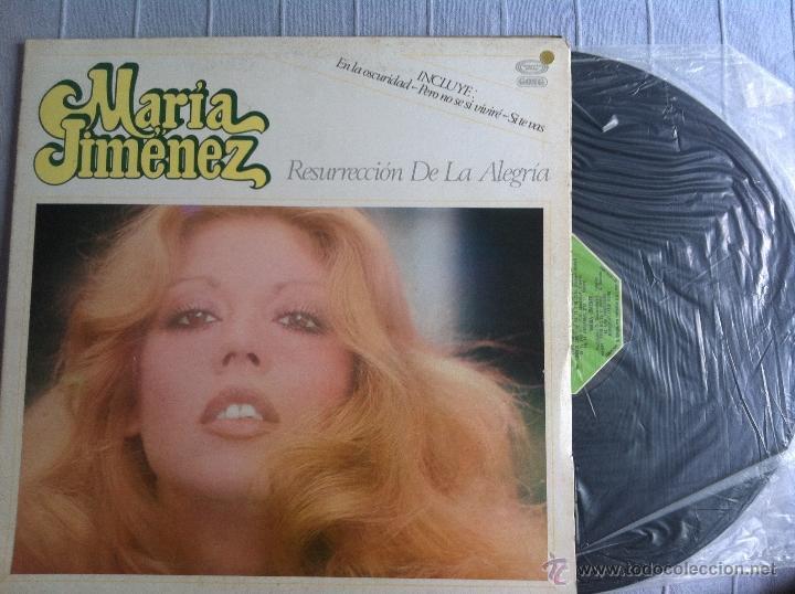 LP MARIA JIMENEZ-RESURRECCION DE LA ALEGRIA (Música - Discos - LP Vinilo - Solistas Españoles de los 70 a la actualidad)