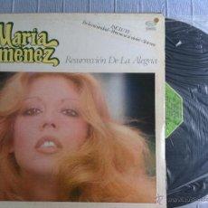 Discos de vinilo: LP MARIA JIMENEZ-RESURRECCION DE LA ALEGRIA. Lote 48384893