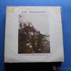 Discos de vinilo: LOS ELEGANTES LOS BUENOS TIEMPOS DONDE ESTAN SINGLE 1989 PROMO ZAFIRO PDELUXE. Lote 48389669