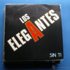 Discos de vinilo: LOS ELEGANTES SIN TI SINGLE 1990 DRO PDELUXE. Lote 48389729