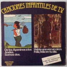 Discos de vinilo: CANCIONES INFANTILES DE T.V. MARCO. LOS PAYASOS DE LA TELE. BELTER, 1977. NUEVO. Lote 48417448