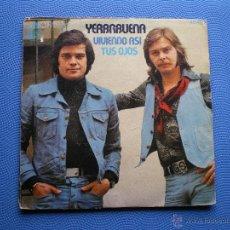 Discos de vinilo: YERBABUENA VIVIENDO ASI SINGLE HISPAVOX 1976 PDELUXE. Lote 48423948