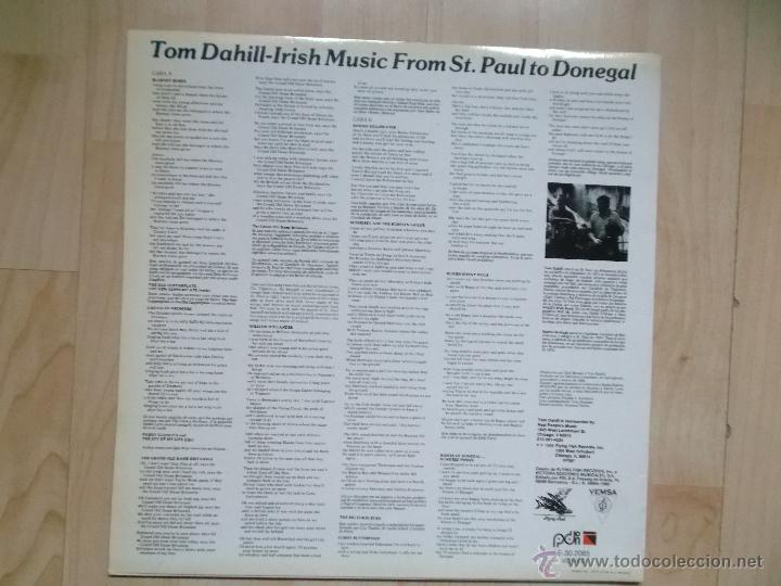 Discos de vinilo: TOM DAHILL - IRISH MUSIC FROM ST. PAUL TO DONEGAL 1989 - Foto 2 - 48434908