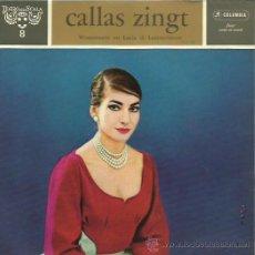Discos de vinilo: MARIA CALLAS EP SELLO COLUMBIA EDITADO EN HOLANDA . Lote 48436731