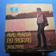 Discos de vinilo: FAUSTO LEALI AVE MARIA NO MORRO SINGLE 1970 PROMO LABEL BLANCO MARFER PDELUXE. Lote 48438156