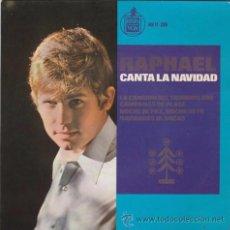 Discos de vinilo: SINGLE - RAPHAEL - CANTA LA NAVIDAD - CUATRO CANCIONES - ED. HISPA VOX - AÑO 1965 -. Lote 48442303