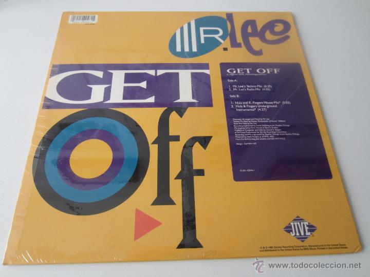 Discos de vinilo: MR. LEE - GET OFF (4 VERSIONES) 1992 USA MAXI SINGLE - Foto 2 - 48442968