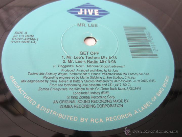 Discos de vinilo: MR. LEE - GET OFF (4 VERSIONES) 1992 USA MAXI SINGLE - Foto 3 - 48442968