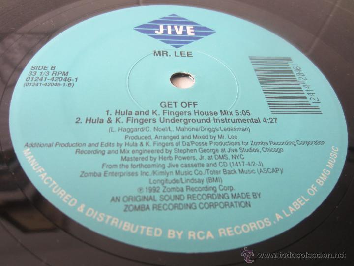 Discos de vinilo: MR. LEE - GET OFF (4 VERSIONES) 1992 USA MAXI SINGLE - Foto 4 - 48442968