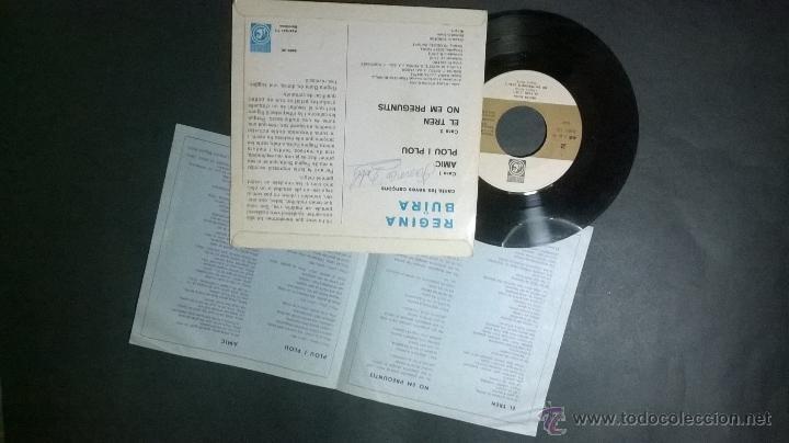 Discos de vinilo: REGINA BUÏRA / NO EM PREGUNTIS - Foto 2 - 48444662