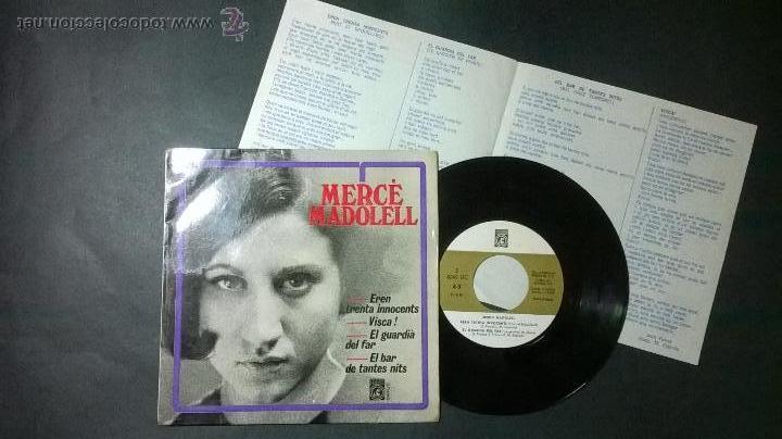 MERCE MADOLELL / EL BAR DE TANTES NITS (Música - Discos - Singles Vinilo - Cantautores Españoles)