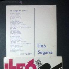 Discos de vinilo: LLEÓ SEGARRA / ES TEMPS DE CANTAR. Lote 48444872