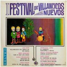 Discos de vinilo: ALICIA GRANADOS+LOURDES IRIONDO+LOS STOP+HERMANOS LÓPEZ... - I FEST. VILLANCICOS NUEVOS - BELTER. Lote 48446271