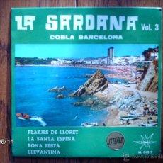 Discos de vinilo: COBLA BARCELONA - LA SARDANA Nº 3 - PLATJES DE LLORET + 3. Lote 48451084