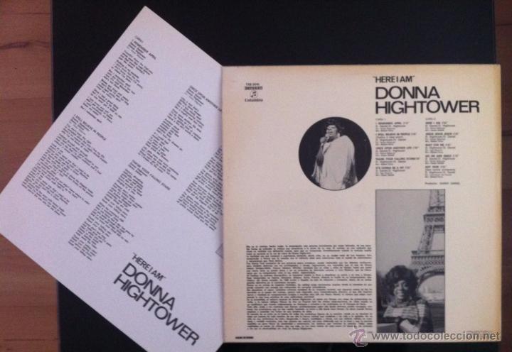 Discos de vinilo: DONNA HIGHTOWER - HERE I AM - LP - 1973 - COMO NUEVO - Foto 2 - 48455471