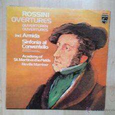 Discos de vinilo: ROSSINI OVERTURES - MAOMETTO 2 - SINFONIA AL CONVENTELLO - 1982 PHILIPS. Lote 48456493