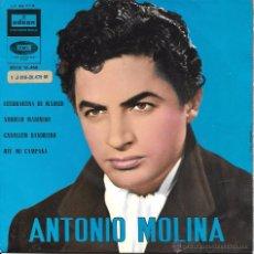 Discos de vinilo: ANTONIO MOLINA - ESTUDIANTA DE MADRID / ARRULLO MARINERO + 2 CANCIONES - EMI / ODEON - 1962. Lote 48456620