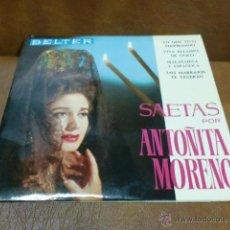 Discos de vinilo: DISCO: ANTOÑITA MORENO- SAETAS.- AÑO 1965. Lote 48456733
